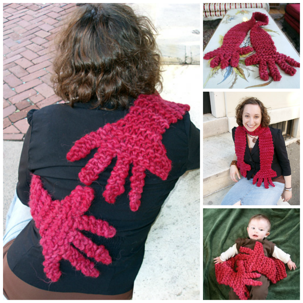 Knit a Scarf That Hugs Back - Free Pattern