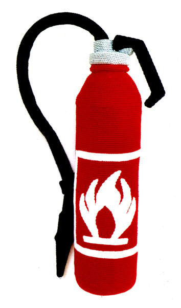 Patricia Waller's fibre fire extinguisher