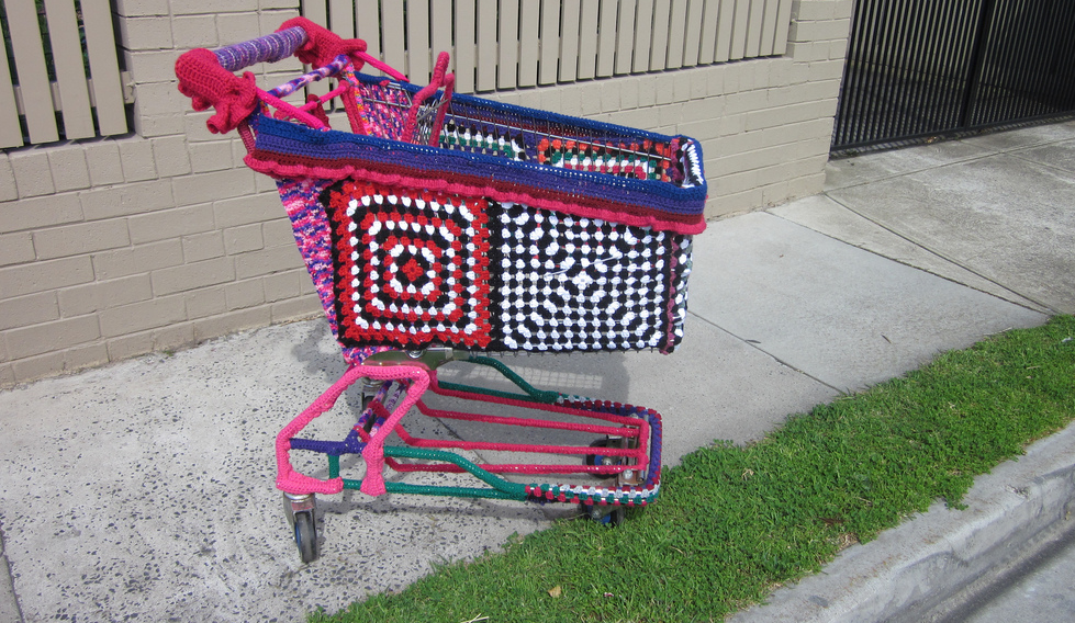 I Might Like Malls If All The Carts Were Yarn Bombed Like This ...
