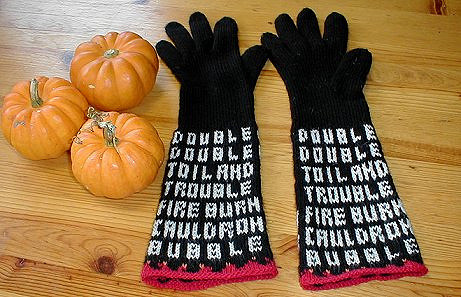 Knit a Pair of Bewitching Halloween Gloves by Nanette Blanchard