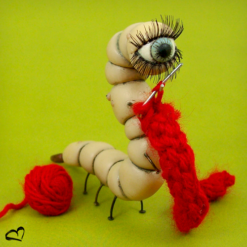 Knitting Curdle Worm