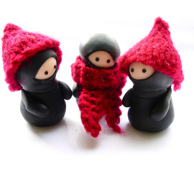 Nifty Ninja Family in Knitted Cozies!