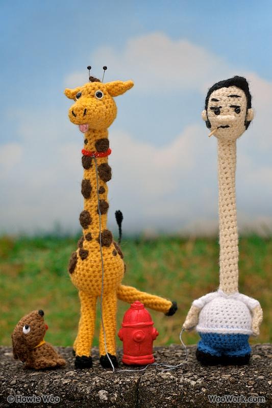 He Crocheted a Ralph and His Pet Raffe the Giraffe