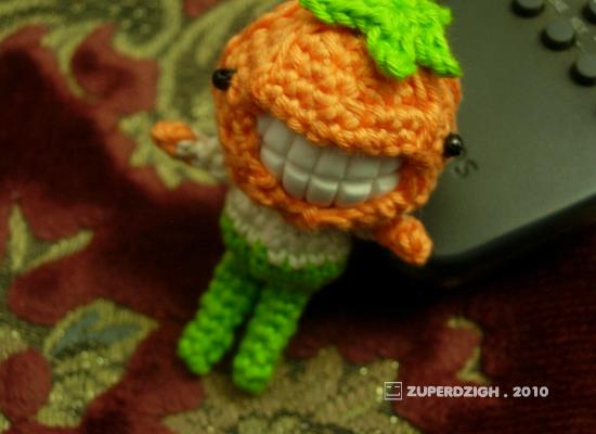 Creepy Cool Pumpkin Head Boy Amigurumi