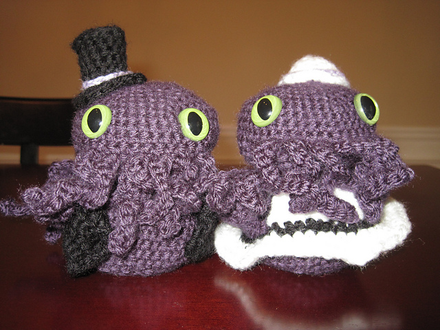 Cthulhu Bride And Groom Amigurumi Knithacker