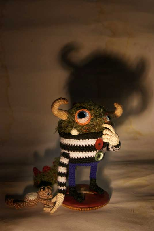 Two Crochet Pieces in ACMI's Tim Burton Wonderland Gallery Competition
