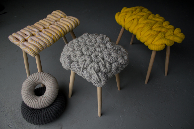 Claire-Anne O'Brien's Knitted Stools Are Fabulous