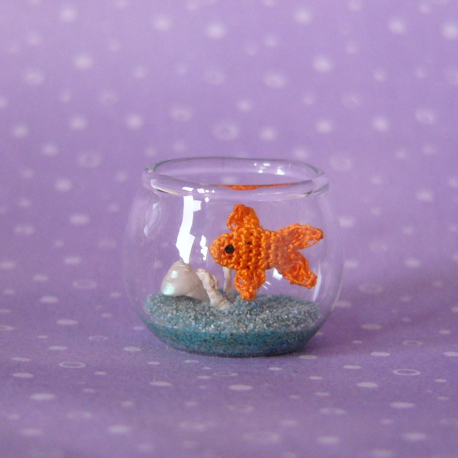 A Crochet Fish in a Fishbowl