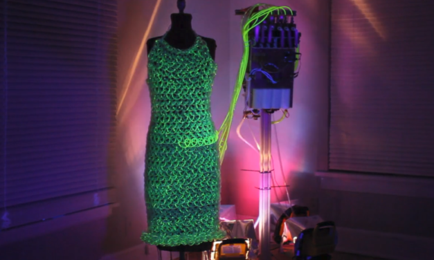 "This ""Fluid Dress"" is Knit With 600 Feet of Tubing … and it's Powered By a Backpack Pump!"