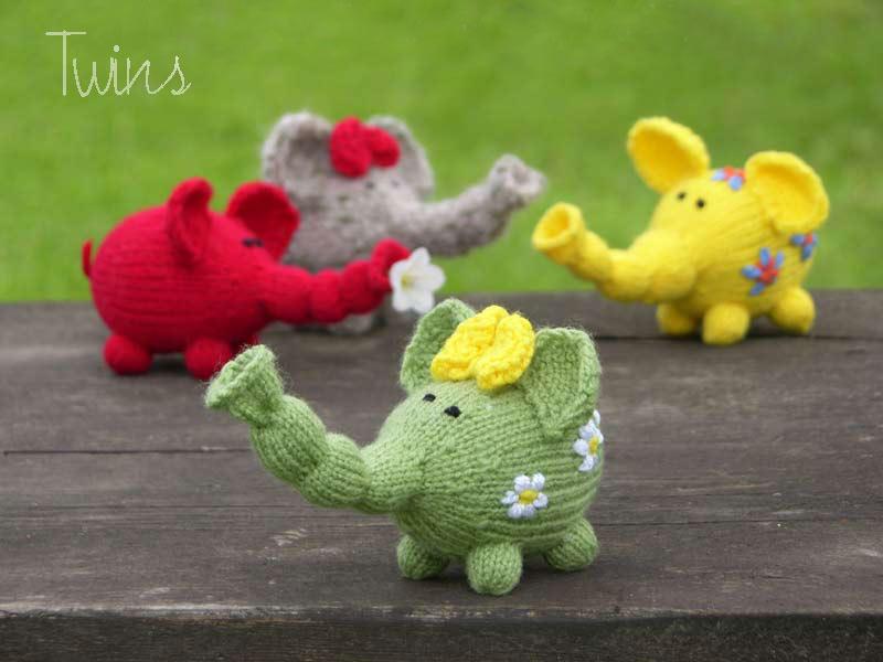 Flower Power Elephants Get The Free Knitting Pattern Knithacker