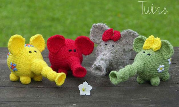 Flower Power Elephants – Get the FREE Knitting Pattern