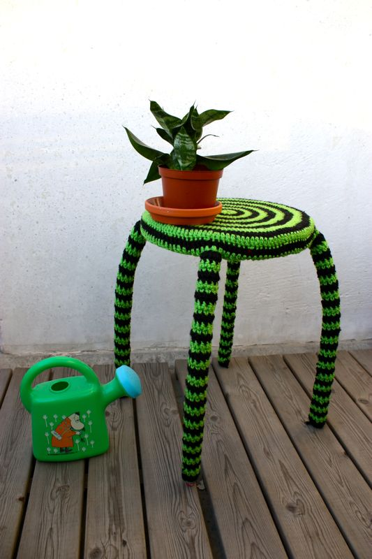 Beetlejuice Inspired? This Stripey Side Table is Everything!