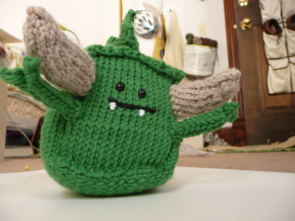Knitted Monster Block by NeedleClicker