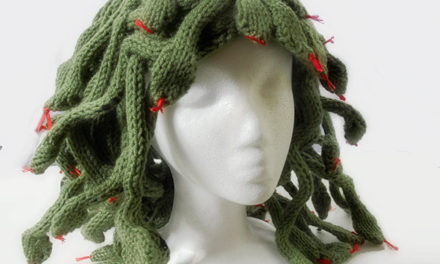 When You Knit This Medusa Headpiece, More Enemies Turn To Stone – FREE PATTERN