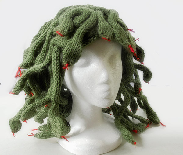 Knit This Medusa Headpiece and Easily Turn Enemies To Stone - FREE PATTERN