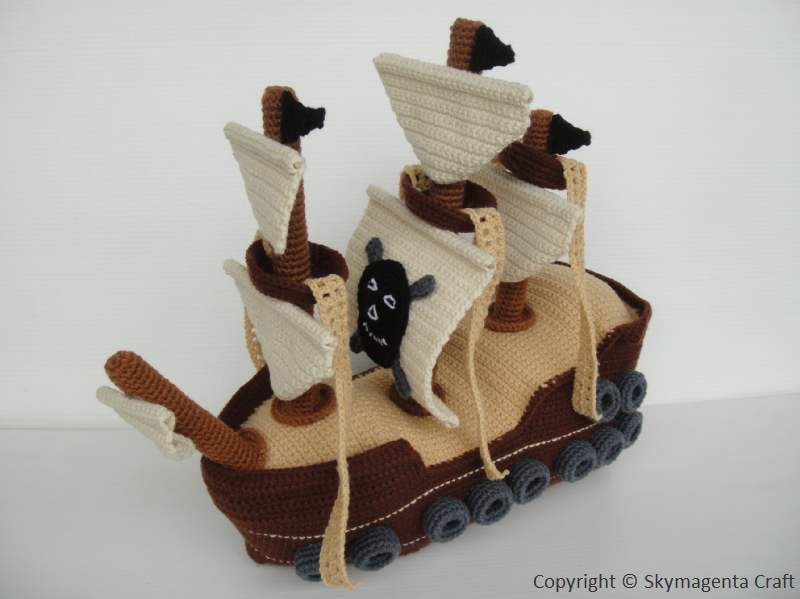 Crochet This Incredible Pirate Ship – It's Truly Awesome!