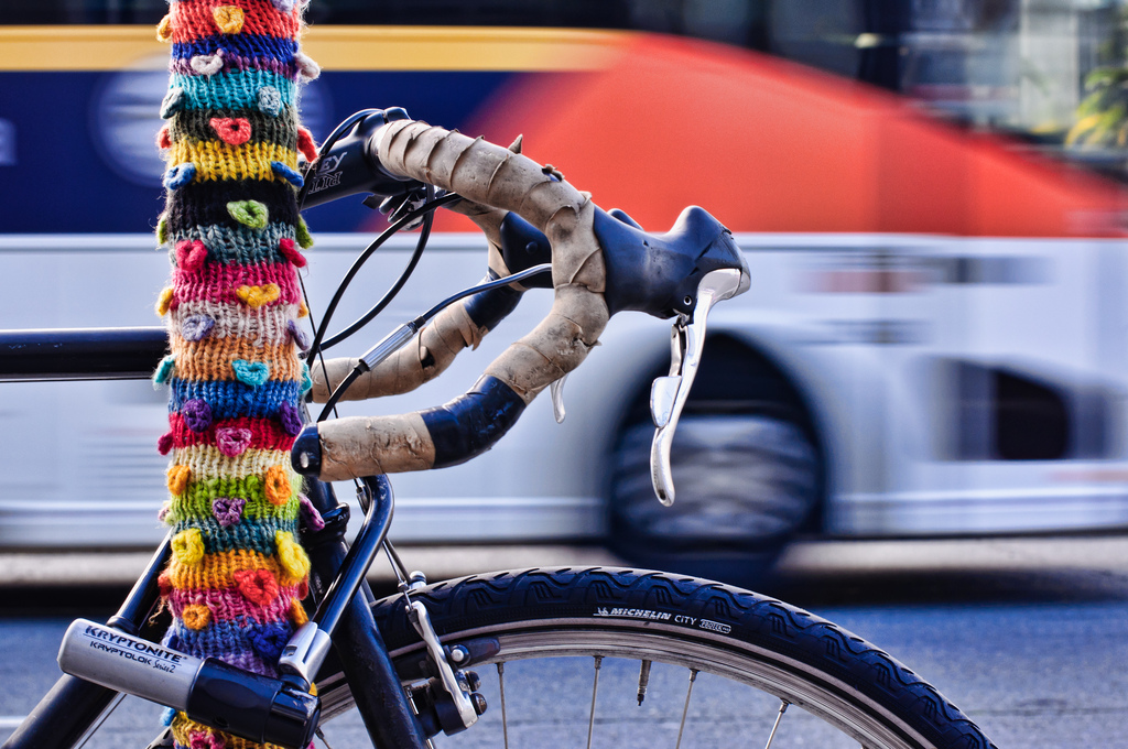 Fantastic Photograph of a San Francisco Yarn Bomb