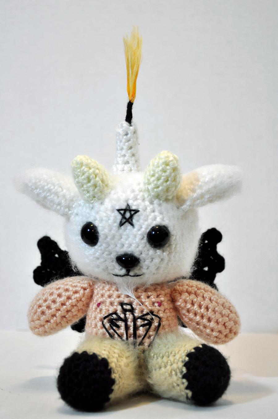 He Crocheted a Baby Baphomet Amigurumi