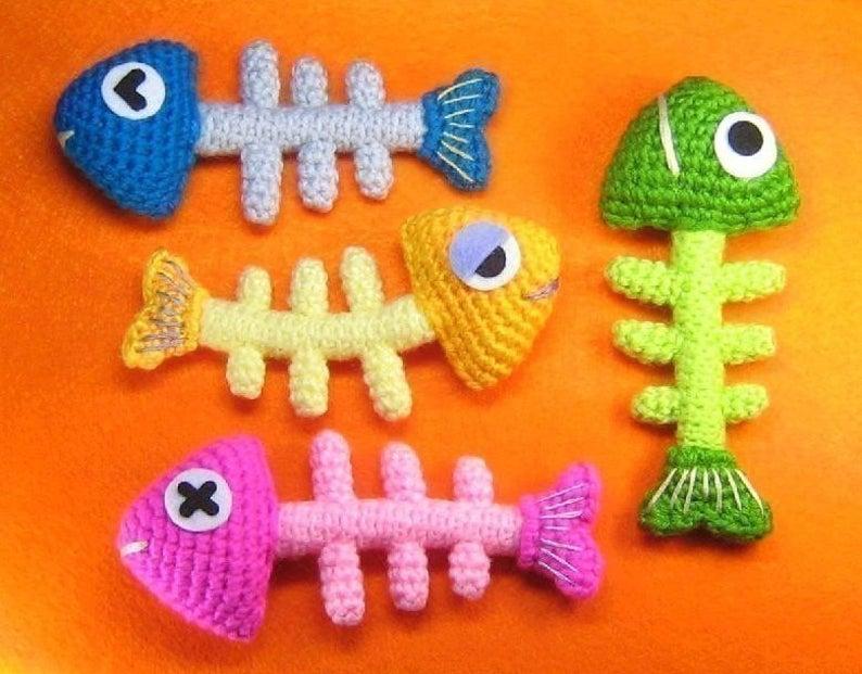 crochet fish skelton pattern