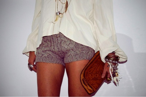 She Wears Short Shorts ... Knit Shorts, Yes or No? Discuss ...