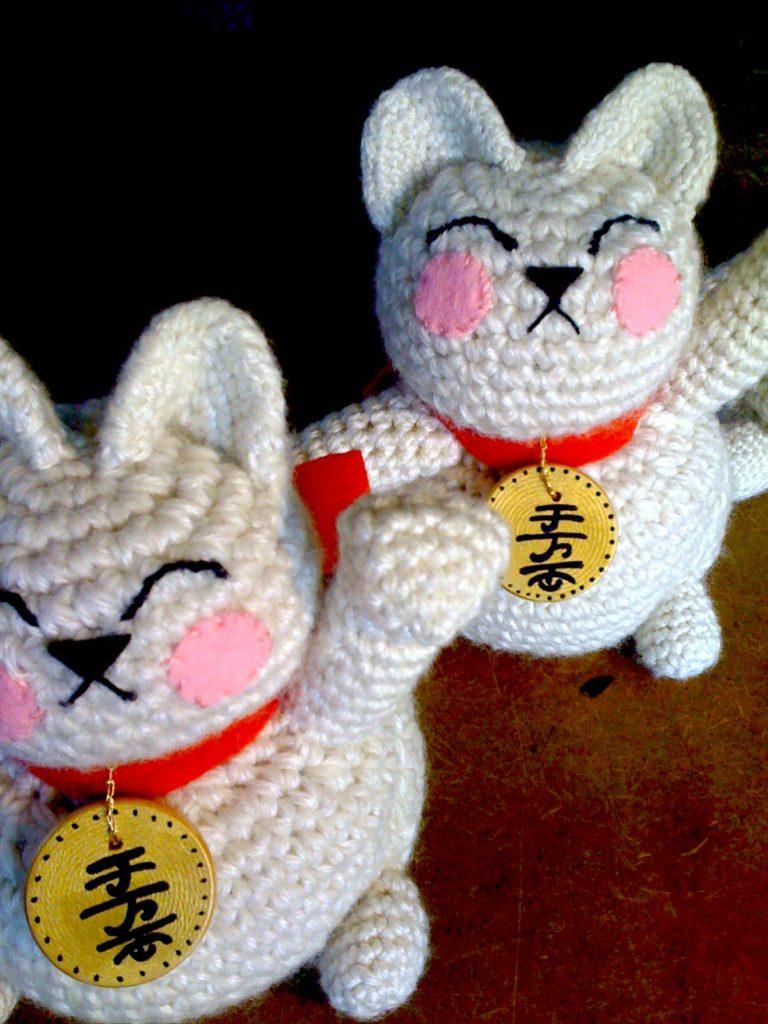 Maneki Neko (Lucky Cat) Crocheted By Shan