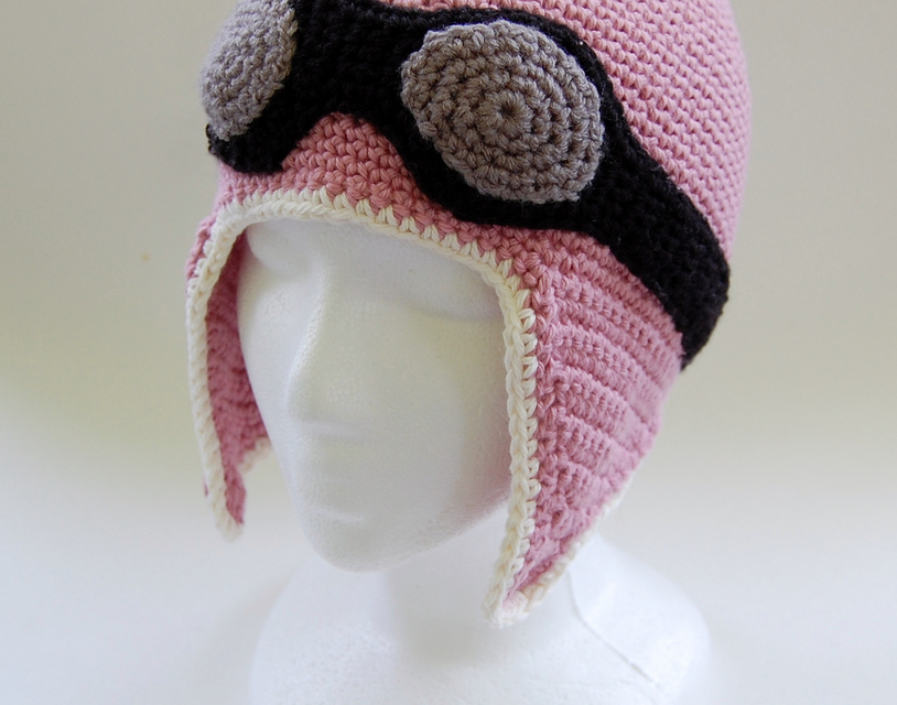 Pink Aviator Hat … Get The Crochet Pattern Designed By Knot By Gran'ma