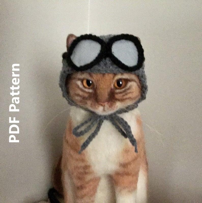 crochet aviator hat patterns #crochet