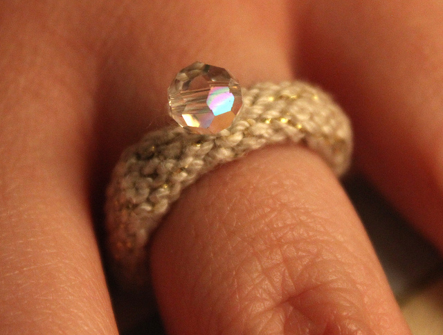 Knit a Cute Engagement Ring!