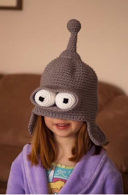 You Can Be Bender From Futurama - Crochet 'Rude Robot' Hat!
