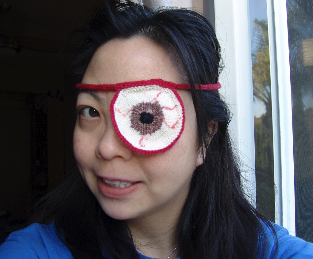 Awesome Knitted Eyepatch