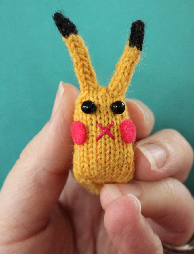 Knit 'Pika-Bunny' by Squirrel Junkie