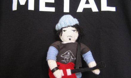 "Knitted Elliott Smith Doll – ""I 💙 Metal"""