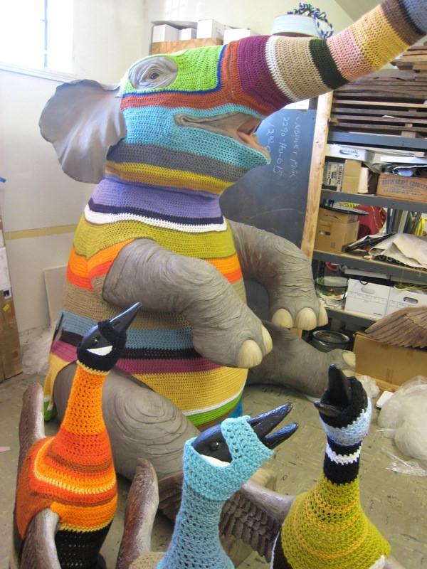 Elaine Bradford's 'Sweatered Elephant' Project