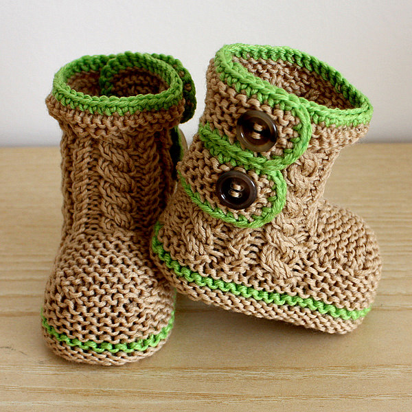 Spring Breath Baby Booties - Not Boring Knitting!