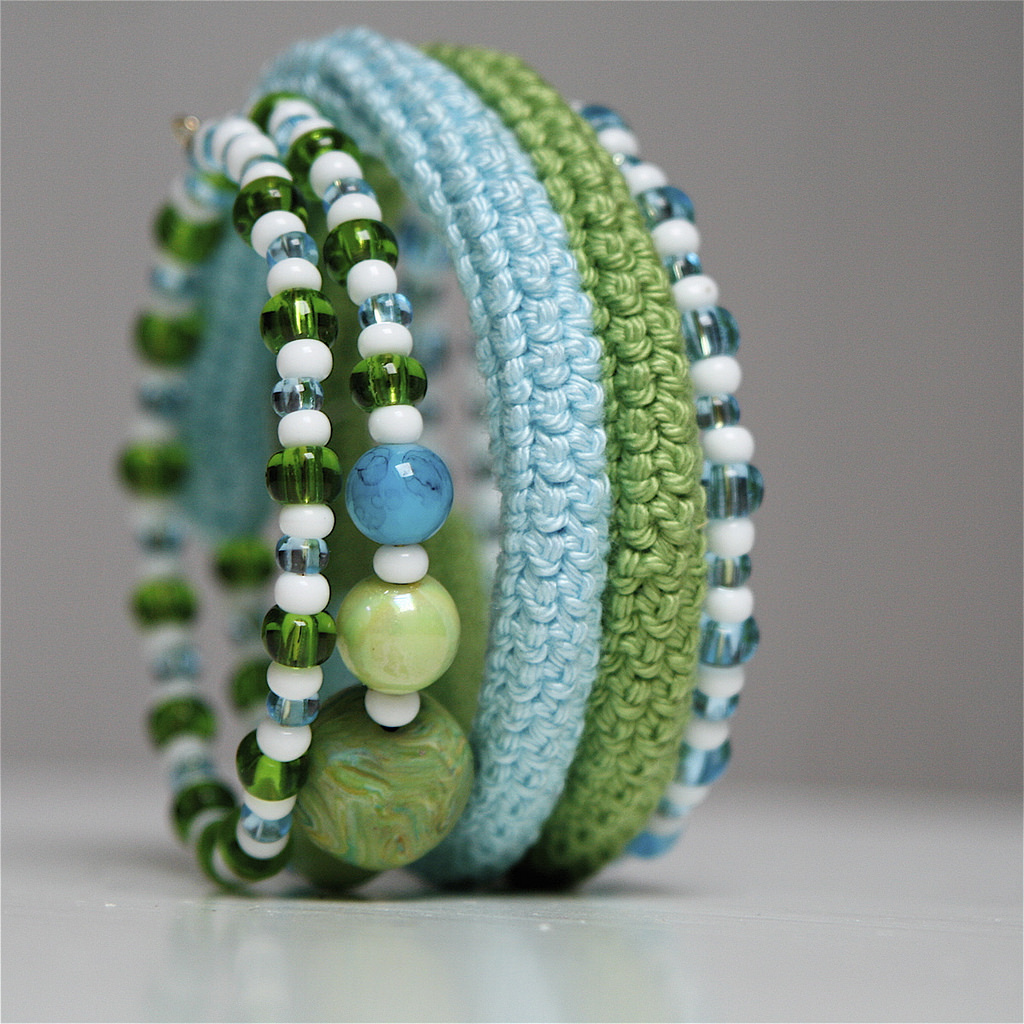 Crochet Coiled Bracelet by Marianne Seiman