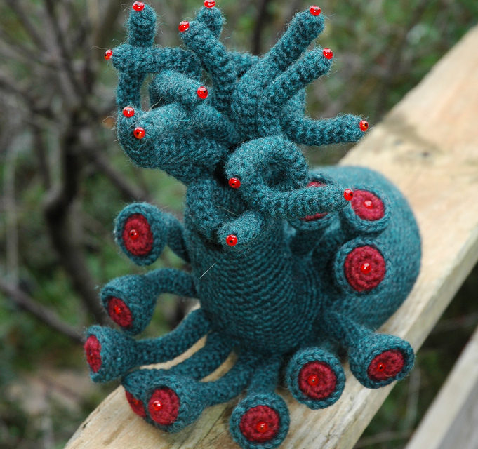 Incredible Crochet Shoggoth by Lucy Bad Dog