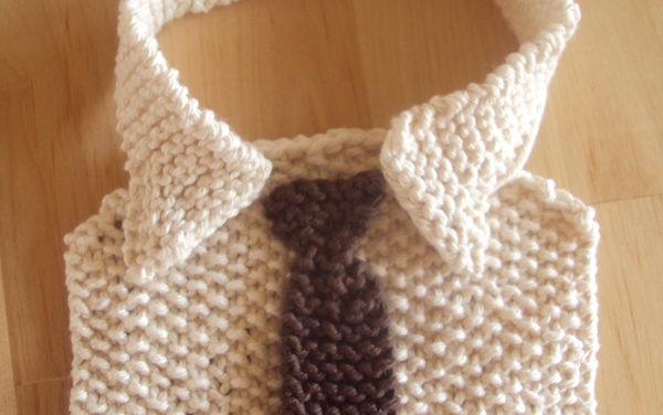 Adorable Shirt & Tie Baby Bib is Comedy Gold – Free Pattern!