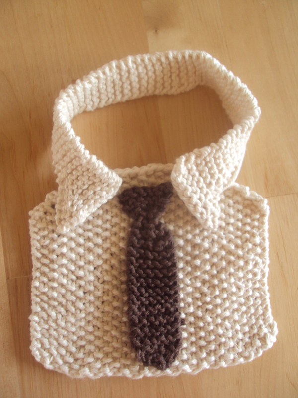 Adorable Shirt & Tie Baby Bib is Comedy Gold - Free Pattern!