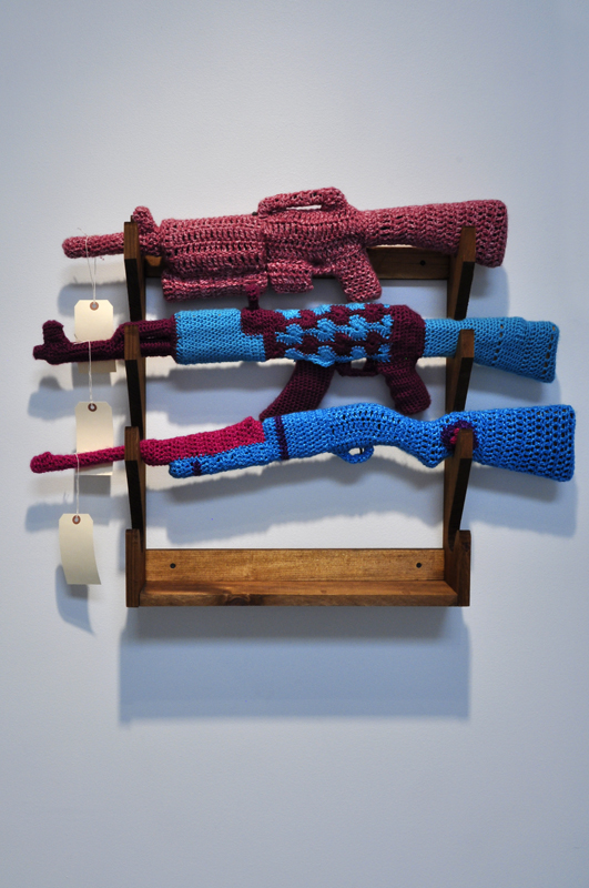The Gun Store 2011 - Crochet Installation By SenorMysterioso