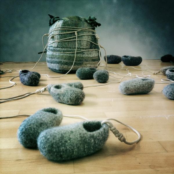 Knitted Badbea Installation - Save The Children!