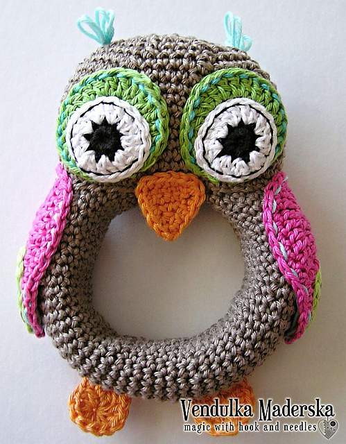 Adorable Owl Rattle - Pattern Now Available!