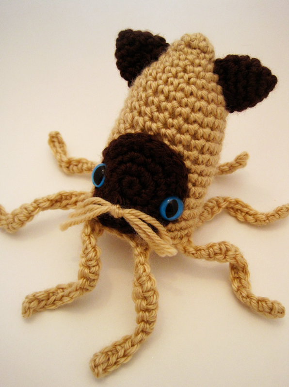 Crochet Siamese Squitten - Squid or Cat? Both!