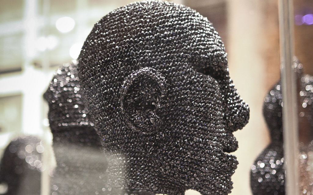 Scar Tissue By Fiona Hall – Made Entirely From Knitted Video Tape