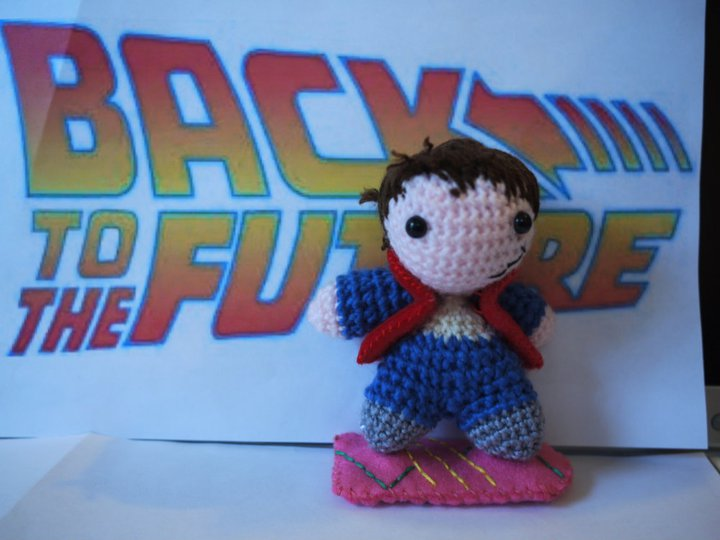 She Crocheted Marty McFly From Back To The Future - Who Else Adores This Amigurumi?