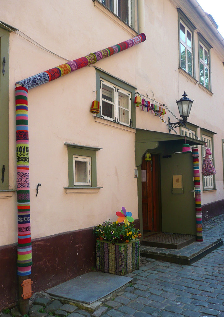 Stunning Drainpipe Coverings - Gorgeous Must-See Yarn Bomb