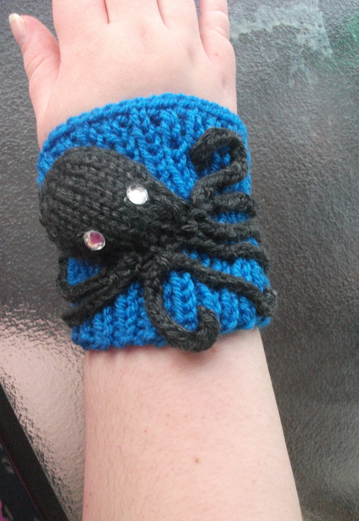 Fantastic Knitted Octopus Cuff