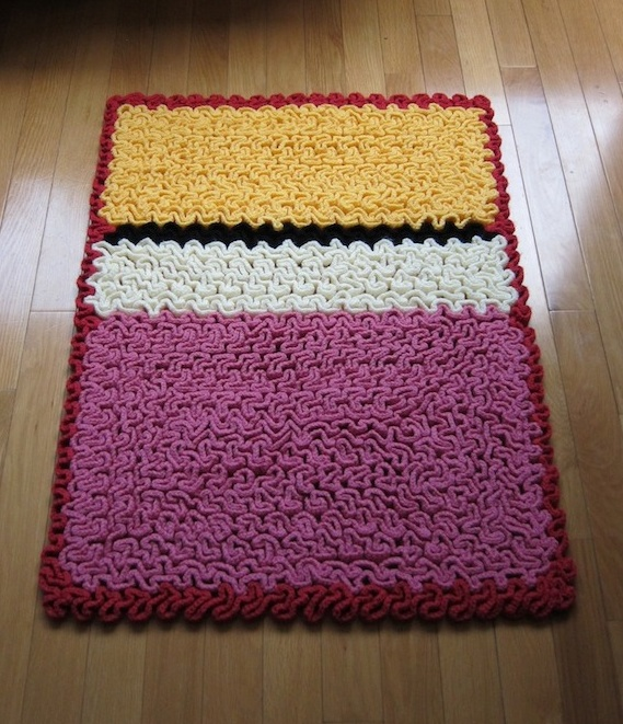 She Crocheted a 'Wiggly' Rothko-Inspired Rug