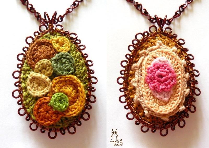 Gorgeous Crocheted Pendants