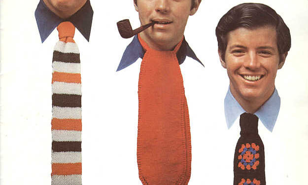 Torture Your Dad With These Hideous Knit & Crochet Ties – Retro At It's Funniest! Get The Patterns!