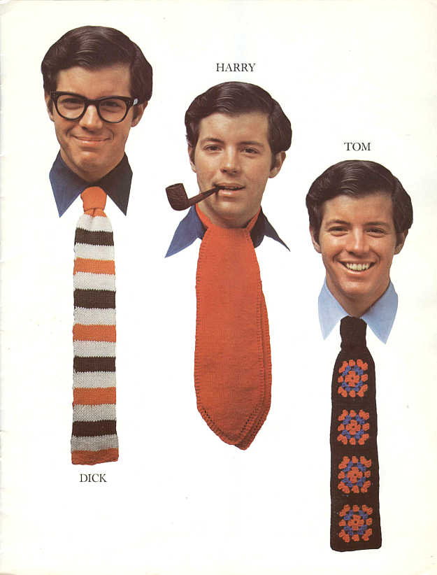 Torture Your Dad With These Hideous Knit & Crochet Ties - Retro At It's Funniest!